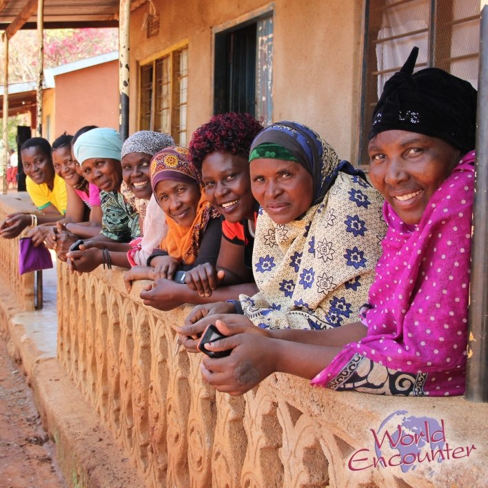 Tanzania women lined up for photo